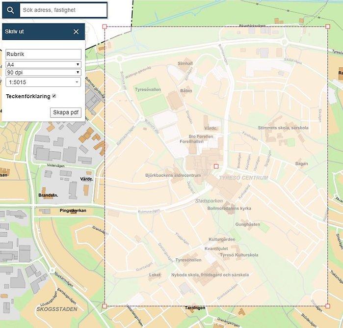 Tyreso Kommuns Webbkarta Tyreso Kommun